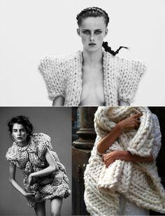 Prendas confeccionadas con punto #knit #fashion #winter