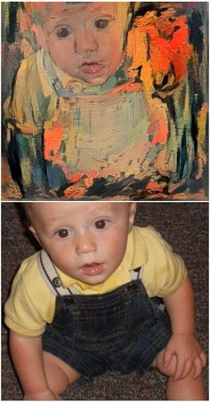 Faux Fauve Family Photos - Click to learn how to convert your snapshots into digital images that look like Matise paintings. Conversions are easy and free with any of Google's Deep Dream Apps.