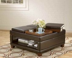 Image Of Upholstered Coffee Table With Storage Upholstered Coffee Table With Tray