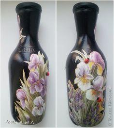 Itens de decoração Decoupage cracelures eu estudo garrafas de vidro decoupage Guardanapos Foto 8