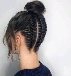hairstyles with afro puff hairstyles over 50 hairstyles african american hair hairstyles on short natural hair hairstyles hairstyles homecoming hairstyles directions hairstyles wedding Curly Hair Updo, Braided Bun Hairstyles, Braids For Long Hair, Braided Updo, Braided Hairstyles, Fashion Hairstyles, Hairstyles Pictures, Updo Hairstyle, Ghana Braids