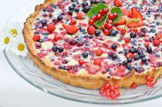 Marja-tuorejuustopiirakka Joko, Cheesecakes, Vegetable Pizza, Blueberry, Sweet Treats, Pie, Baking, Desserts, Recipes