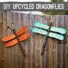 #DIY #Repurpose fan blades to Dragonflies @savedbyloves