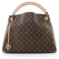 970ab79b53ba A classic Louis Vuitton shoulder bag in traditional Monogram canvas with  natural leather trim and golden