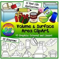 Area Formula And Surface Area On Pinterest