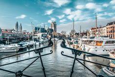 Stadsgezicht op Dordrecht, nieuwe haven, houttuinen van Rietje Bulthuis