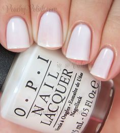 OPI Funny Bunny. The perfect opaque white polish without being stark white. Looks great against a summer tan.