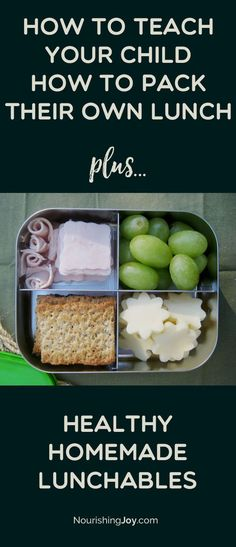Healthy homemade lunchables make lunch packing SIMPLE, whether you or your child is doing the packing! There's also a TON of printable info in this post to help your kids be able to pack their own healthy lunch, including a handy-dandy printable. (I hang mine on the inside of the lunch supplies cupboard.) :)