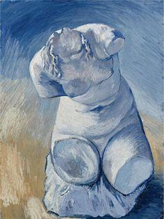 Vincent Van Gogh - Statuette de plâtre: Torse de femme, vue de face, 1877.