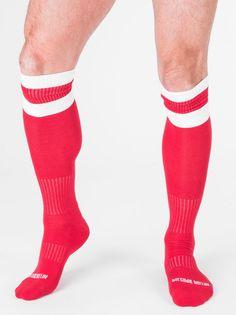 Original Barcode Berlin, Football Socks, rot/weiß, 90143/301, sexy, SALE