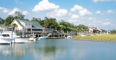 The scenic marsh in Murrells Inlet is a great place to enjoy meals of all sorts, especially seafood.
