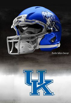 University of Kentucky Wildcats - concept football helmet University Of Kentucky Football, Kentucky Sports, Kentucky Basketball, Kentucky Girls, Uk Wildcats Basketball, Kentucky Athletics, Uk Athletics, College Football Helmets, Uk Football
