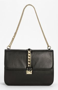 Valentino 'Grande Lock' Leather Shoulder Bag available at #Nordstrom. Def want. Should aim for this while I'm young because it'll look silly when I'm old.