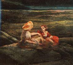 """Massimo Tapparelli D'Azeglio (Torino 1798 - ivi 1866) """"Paesaggio con figure femminili"""" (particolare), 1831-1845 ca olio su tela, cm 113 x 145 #PinacotecaCivica #AscoliPiceno #Marche #Italy"""