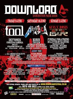 My First Download 2006 Heavy Metal Rock, Heavy Metal Music, Festival Posters, Concert Posters, Music Posters, Wicked Wisdom, Coheed And Cambria, Billy Talent, Stone Sour