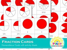 Free Fraction Nomenclature Cards | The Pinay Homeschooler