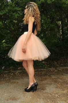 Hey, I found this really awesome Etsy listing at https://www.etsy.com/listing/174577832/peach-women-tulle-skirt-knee-length-tutu