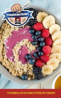 Prenez le contrôle de vos matins en visitant www.coupdecoeurquaker.ca Profitez des bienfaits nutritifs de l'avoine et de la fraîcheur d'un smoothie avec ce tourbillon déjeuner. Amusez-vous et garnissez-le de savoureux fruits de saison. Recette complète: http://www.quakeroats.ca/fr/recipes/tourbillon-de-smoothie-au-gruau #CoupdecoeurQuaker