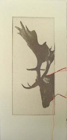 Small original deer etching by Fleurografie on Etsy, $9.49