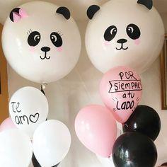 Bonitas ideas de cumpleaños de pandas | Tarjetas Imprimibles Panda Themed Party, Panda Birthday Party, Panda Party, Diy Birthday, Birthday Parties, Big Balloons, Birthday Balloons, Balloon Decorations, Birthday Party Decorations