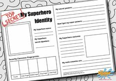 Create your own Superhero Identity!