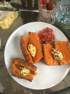 Sweet Potato with Chipote Butter and Pico de Gallo