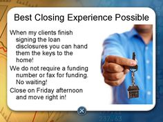 Realtors, are you tired of waiting hours or days for the bank fund your buyers closing?    Close with Richard Woodward of Envoy Mortgage and you will not have that problem, once everyone has signed you can hand the buyer the keys. We do not require funding number or fax for funding!  Texas Realtors and buyers call me today at 972-661-5136 or visit the online at www.Mortgageprosus.com
