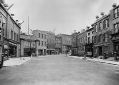 """A 1934 view of the """"New York Street"""" on the Paramount backlot."""