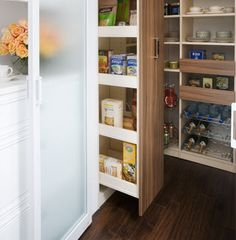 Gorgeous Kitchen Pantry System Features Pull Out Storage Drawers Chrome Wine And Can Racks