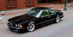 black car, BMW E24 635 CSi, car, street photos