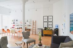 The New Man Repeller Office I The sartorially adventurous blogger and her team get a bigger, better, prettier space