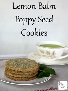 Use the herb garden harvest for some tasty lemon balm poppy seed cookies. Use the herb garden harvest for some tasty lemon balm poppy seed cookies. Lemon Balm Recipes, Lemon Balm Uses, Herb Recipes, Real Food Recipes, Dessert Recipes, Cooking Recipes, Healthy Cooking, Drink Recipes, Healthy Food