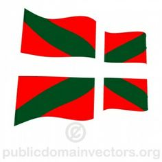 PublicDomainVectors.org-Waving vector flag of Basque region in southern Spain.