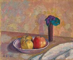 Alexandre Blanchet - Nature morte aux pommes, 1909 - Huile sur toile, 38 x 46 cm.