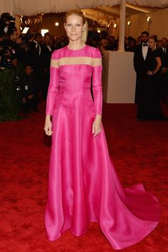 Gwenyth Paltrow, in Valentino, attends the Costume Institute Gala for the 'PUNK: Chaos to Couture' exhibition at the Metropolitan Museum of Art on May 6, 2013 in New York City. Met Ball Gala 2013.