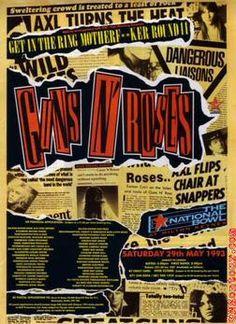 Guns N' Roses at The National Bowl 29 May 1993 ...