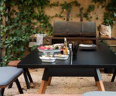 BBQ & Ping Pong Table in einen! RS Barcelona Estisch für Outdoor und Indoor