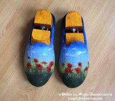 wet felting tutorial - very nice felted slippers, fotos and intstructions in russian