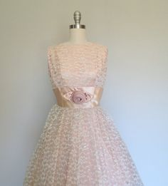 50s party dress size small / 50s prom dress / by swansongvintage1, $115.00