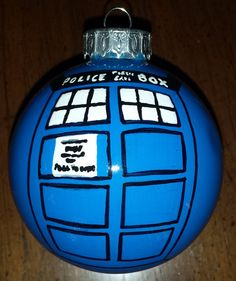Doctor Who TARDIS Ornament by LastYesterday on Etsy