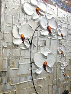 Añadir un toque sencillo y moderno a tu espacio con esta pintura de orquídea blanca. Cuenta con una sola rama con flores de orquídeas en una técnica de espátula. Esta obra de arte será añadir profundidad y dimensión a tu espacio. Orquídea blanca 20 x 16 x 3/4 Arte abstracto textura en