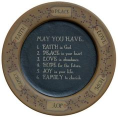 PRIMITIVE  HOME DECOR ~May You Have...Plate~ FARM HOUSE~ COUNTRY ~ DECORATIONS #AmericanaPRIMITIVE