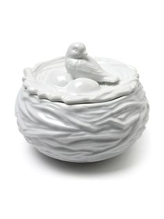 Bird on Nest Covered Bowl by Abbott at Gilt