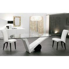 Compra online. Diseño Piero de Longhi. Lujosa mesa de diseño con un imponente pie. Su diseño viste de una forma espectacular cualquier habitación donde se coloque.