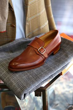 Welcome to Coccinella, Bespoke Salon in Osaka Japan Corno blu Monk Strap Loafers  Visit Our Website:  Coccinella / BOTTEGA del SARTO   Facebook: https://www.facebook.com/coccinella.jp