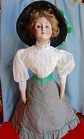 Gorgeous 20 Inch Antique Gibson Girl Bisque Head Doll - Time Travel Treasures #dollshopsunited