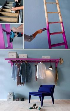 DIY Shelves Easy DIY Floating Shelves for bathroom,bedroom,kitchen,closet DIY bookshelves and Home Decor Ideas Easy Home Decor, Cheap Home Decor, Craft Ideas For The Home, Easy Diy Room Decor, Home Decoration, Regal Bad, Floating Shelves Bathroom, Bedroom Shelves, Closet Shelves
