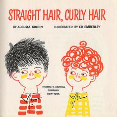 Straight hair, curly hair; illustration by Ed Emberley (from *julia, via Illustrated Gents) #EdEmberley #illustration #hair