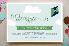 Kite Children's Birthday Party Invitations by lena barakat at minted.com