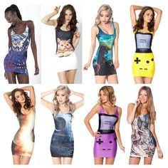 Wholesale Sleeveless O-neck Print Elastic Polyester Sexy Women Short Mini Dress Slim Ladies Summer Dress Lady Night Club Dresses $8.83